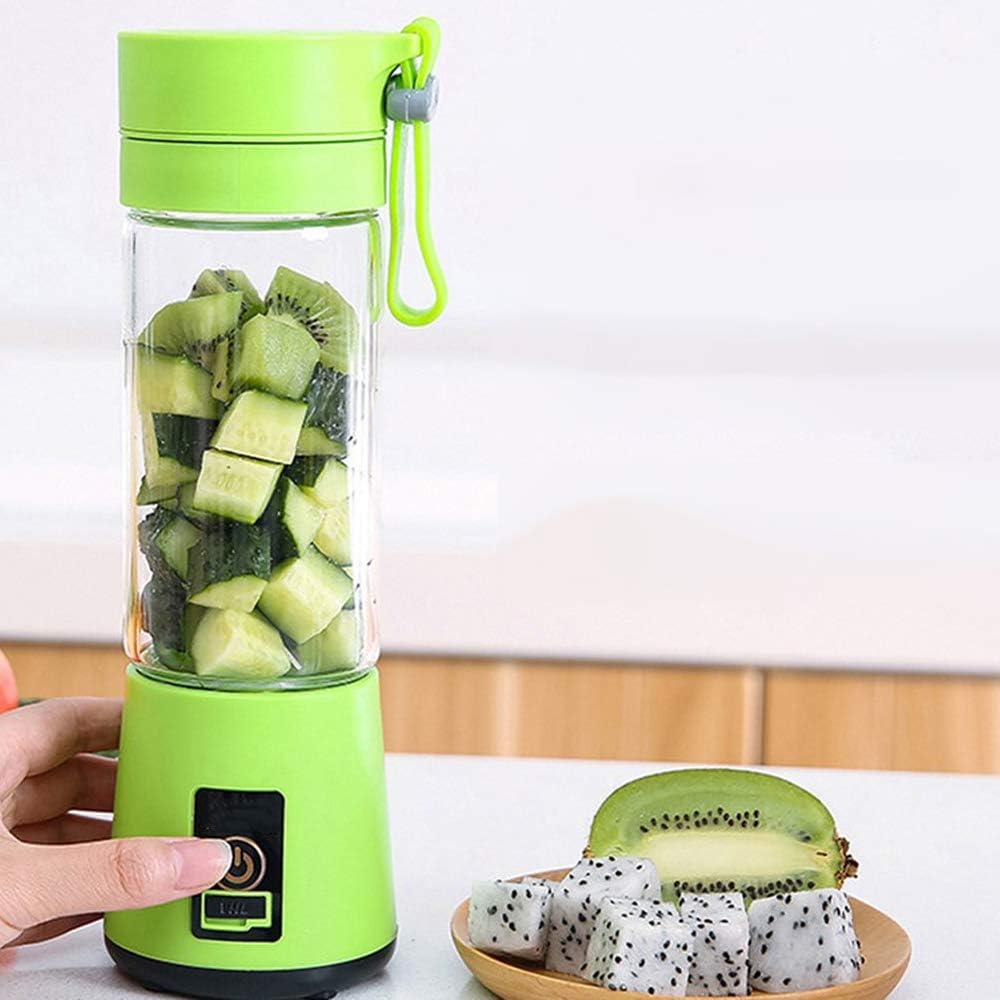 Taza de exprimidor Recargable Multifuncional Mini exprimidor doméstico pequeño máquina portátil de Jugo de suplemento de Alimentos de Frutas y Verduras Blue