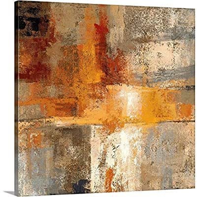 Silver and Amber Crop Canvas Wall Art Print by CANVAS ON DEMAND