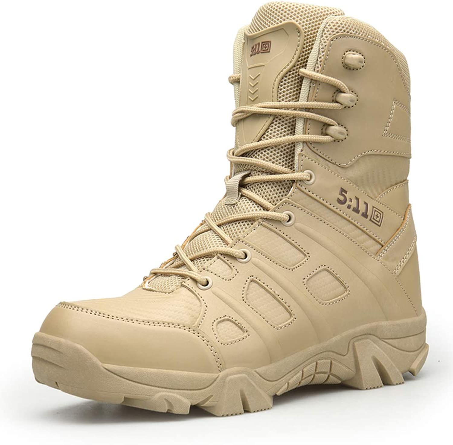 Mens Hiking shoes Breathable Trekking Waterproof High Top Tactical Boots