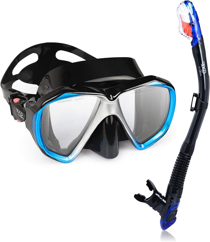 EXP VISION Time sale Snorkel Set Dry for OFFer Top Anti-Leak Mask Women