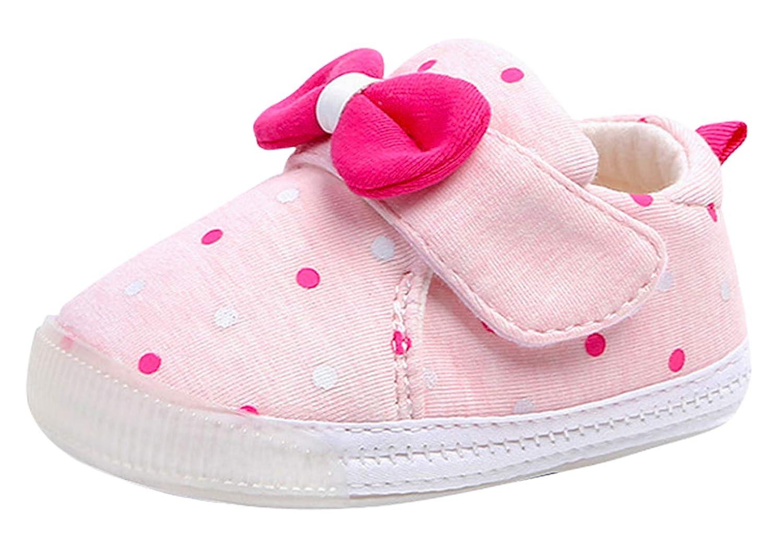 (コ-ランド) Co-land 子供シューズ 女児 キッズ靴 通気性 女の子 リボン飾り ベビー 赤ちゃん スニーカー 柔らかい ファーストシューズ 可愛い スポーツ 12 ピンク