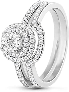 Diamond Engagement Ring 14K In White Gold 5/8 Ct