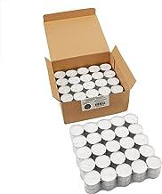 100 قطعة من ستونيبرير، شموع إضاءة ليلية تدوم 8 ساعات، لون أبيض، 100 قطعة