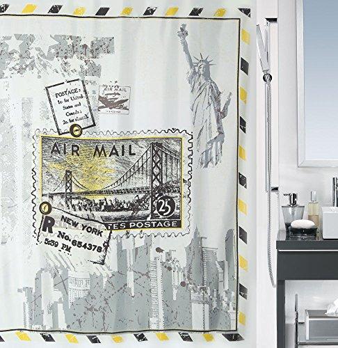 Spirella Anti-Schimmel Duschvorhang Riverdale New York Anti-Bakteriell, waschbar, wasserdicht Polyester 180x200cm