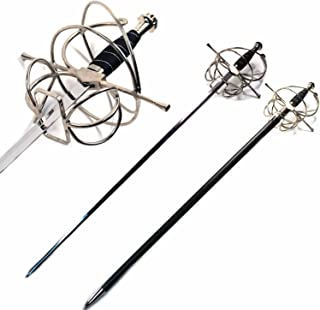 Ace Martial Arts Supply New Renaissance Rapier Fencing Sword with Swept Hilt Guard …
