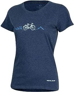 Pearl iZUMi Women's Graphic Cycling T-Shirt, City Bike MTN Heather Dusk, Large