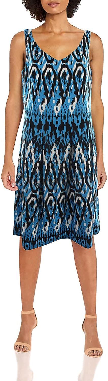 Anne Klein Women's Sleeveless Vintage Ikat Swing Dress