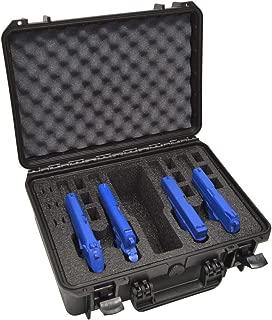 4 Pistol 12 Magazine + Accessory Waterproof Heavy Duty Gun Case - Doro Case with Custom Mycasebuilder Foam Insert