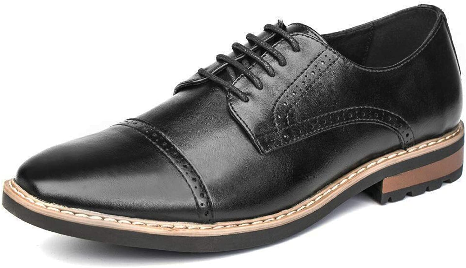 GOLAIMAN Size 6-14 Oxford shoes Men's Uniform Dress shoes Work shoes Formal shoes Low-Heel Lace up Derbys shoes