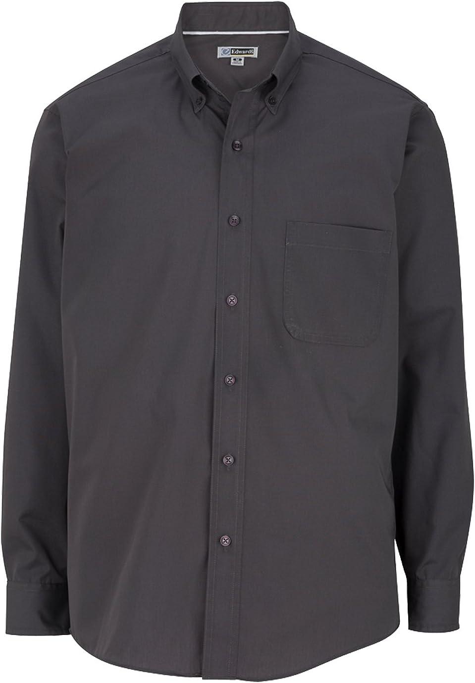 Edwards Garment Men's Big And Tall Easy Care Poplin Shirt_STEELE GREY_6XLT