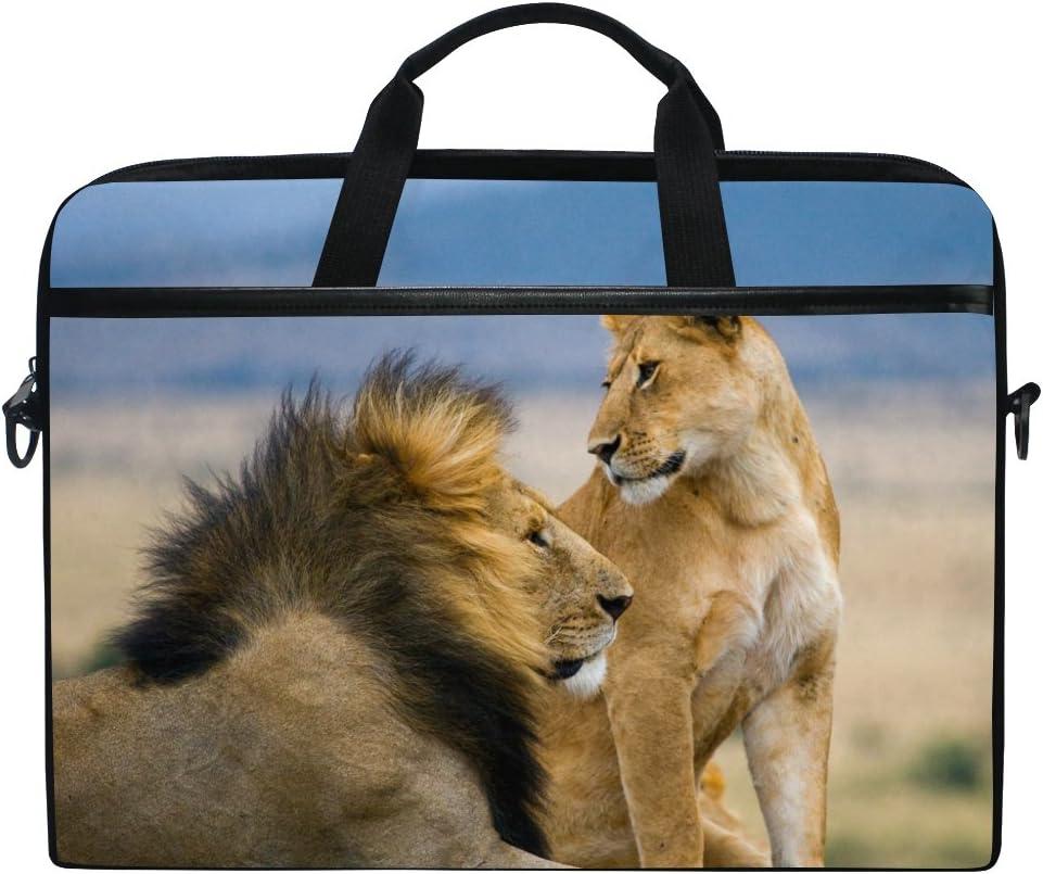 specialty shop JSTEL Lion Some reservation Laptop Shoulder Messenger Bag 14 Case Sleeve inch for