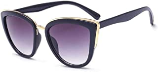 Retro Vintage Cat Eye Sunglasses for Women PC Metal Frame Classic Style UV Protection
