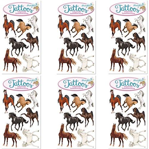 Neu: 6-teiliges Tattoo-Set * TAPIRELLA Pferde * vom Mauder-Verlag   Kinder Kindertattoo Kindergeburtstag Geburtstag Mitgebsel Geschenk Tiere Ponys