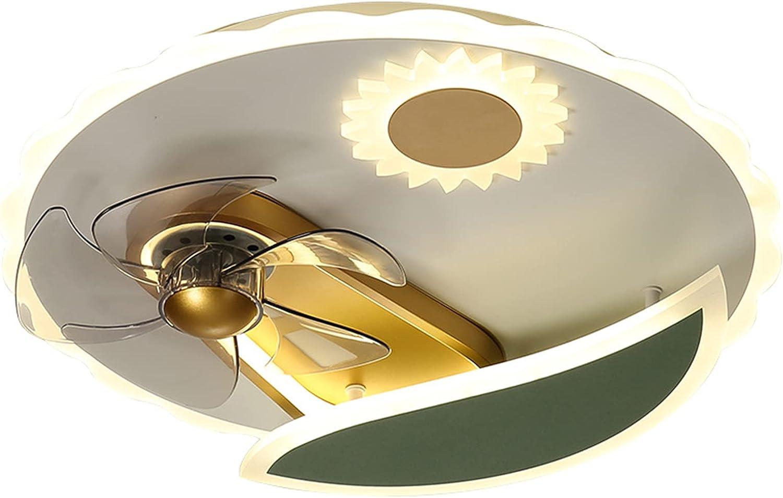 Esentia LáMpara De Techo con Ventilador LED, LáMpara De Sol para NiñOs con Ventilador De AcríLico De Dibujos Animados, Adecuada para Dormitorio