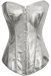 018e53ea662 Y Fashion Womens Sexy Steampunk Gothic Faux Leather Boned Corset Bustier