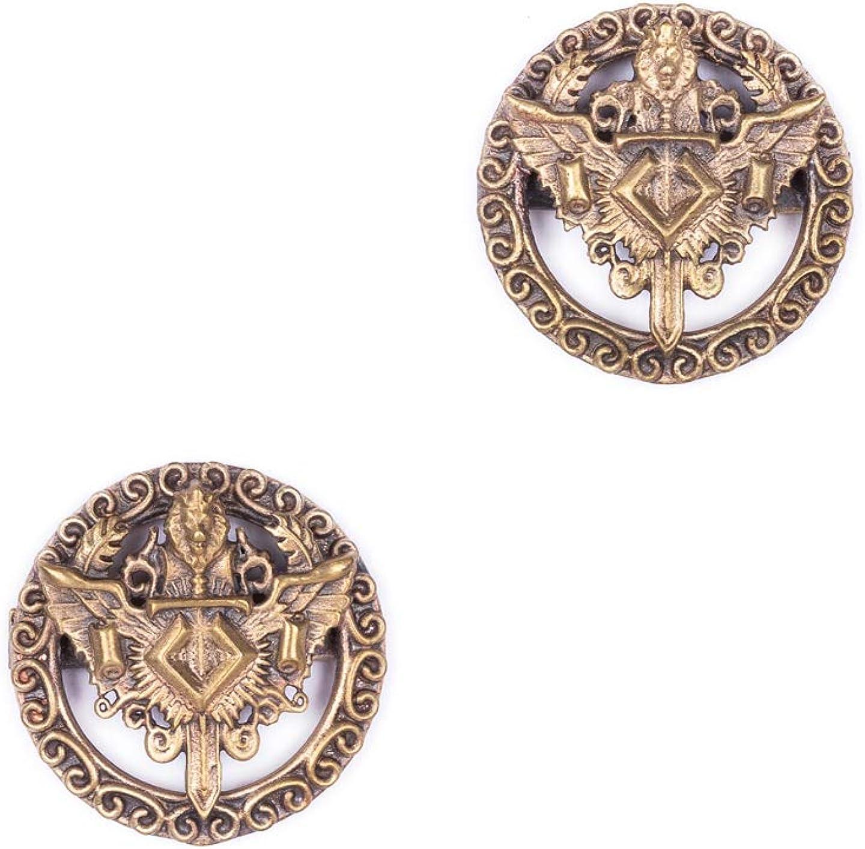 Knight Don't miss the campaign Lion Shield Cufflink Handmade Cufflinks Cuf Brass Metal Max 63% OFF