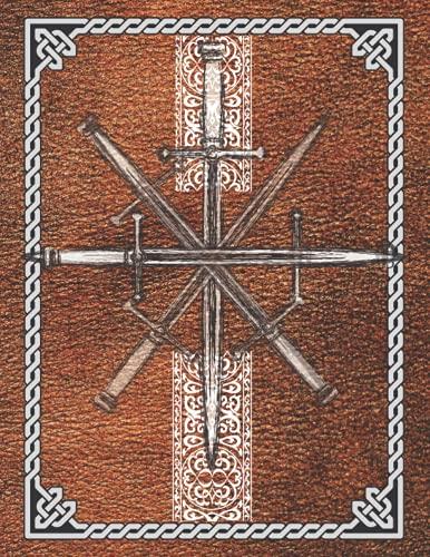 Libro de Rol: Cuaderno para Juegos RPG, DND con Papel Hexagonal, Cuadriculado, Punteado y Lineado.