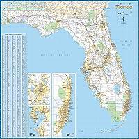 """Florida Laminated Wall Map (48"""" x 48"""")"""