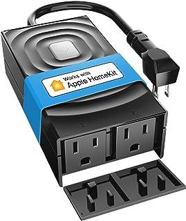 پلاگین meross Smart Outdoor Outlet، ضد آب WiFi در فضای باز ضد آب ، سازگار با Apple HomeKit ، Amazon Alexa ، دستیار Google ، SmartThings ، کنترل از راه دور ، تایمر ، FCC و ETL دارای گواهی
