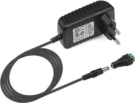 LE Adaptador de Corriente CC 12V 2A, 100-240V, para Alimentación de Tiras LED, 24W como máximo