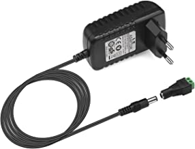 LE Adattatore 12V 2A, Input 100-240V AC, per Strisce LED 3528/5050 da 12V, 24W Massimo 2,1mm X 5,5mm Spina Standard EU