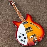 YYYSHOPP Guitars & Gear Guitarra eléctrica de mano izquierda de 12 cuerdas, guitarra acústica de acero cuerdas guitarras clásicas (color: guitarra, tamaño: 41 pulgadas)