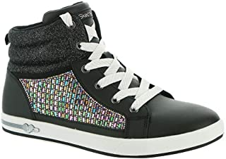 Skechers girls Fashion Athletics Sneaker, Black/Multi, 3 Little Kid US