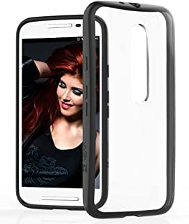 Moto G 3rd Gen Case - VENA [RETAIN] Slim-Fit Hybrid Case [2.0mm Thin] with Shockproof Cornerguard Bumper + Clear Hard [Scratch Resistant] Back Cover for Motorola Moto G (3rd Generation) 2015 - Black