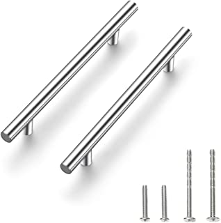 30 Pack 7.38 inch Cabinet Pulls Brushed Nickel Stainless Steel Kitchen Cupboard Handles Cabinet Handles, 5 inch Hole Center