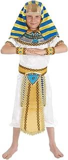 Boys Egyptian Pharaoh Costume Kids Historical King of Egypt Outfit