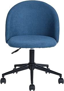 HOMY CASA Office Chair Ergonomic Backrest and Seat Mid-Back Adjustment Computer Chair Nylon Castor -Blue Grey
