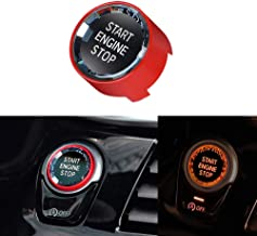 Thor-Ind Crystal Start Button Cover Engine Start Stop Ignition Switch Replacement Compatible with BMW 1 2 3 4 5 6 7 Series X1 X2 X3 X4 X5 X6 F Chassis/G Chassis (Red)