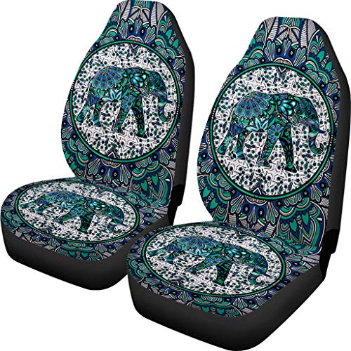 Showudesigns Funda universal para asiento delantero de coche para mujer Boho Mandala Hippie Estilo E