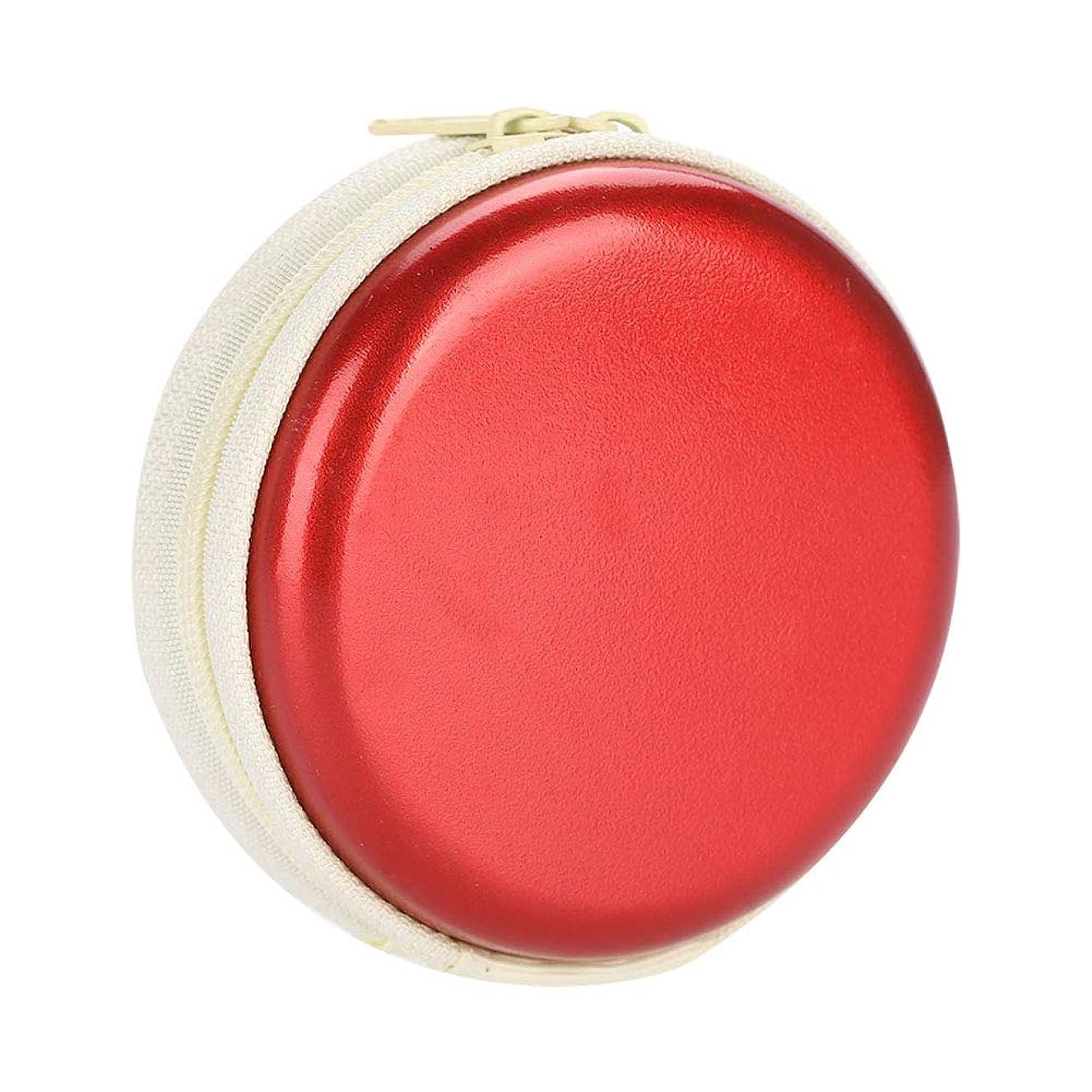 契約減る有彩色のエッセンシャルオイルキャリングケーストラベルキャリアコンテナコンパクト&ポータブルオイルバッグ保護外装ハードシェル付き外装ストレージ(Red)