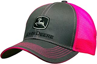 قبعة جون ديري بشريط خلفي شبكي باللون الوردي النيون - 23080418CH00