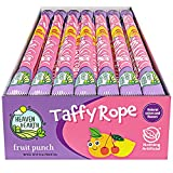 Heaven & Earth Fruit Punch Taffy Rope 19.5oz (24 Pack)   Made with Natural Colors & Flavors , No High Fructose Corn Syrup, Gluten Free, Nothing Artificial, Wonderfully Delicious!