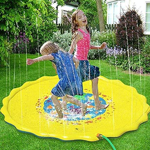 Sprinkler Splash Pad Voor Kinderen, Opblaasbaar Buitenwatermat Speelgoed Waden Zwembad, 68 Inch Voor Kinderen Peuters Jongens/Meisjes Outdoor Party Sprinkler Splash Pad