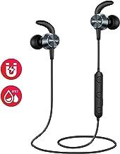 【Versión Actualizado】 Mpow S15 Auriculares Bluetooth Magnéticos,IPX7 Impermeable Auricular In-Ear Running Deporte HD Sonido con Micrófono,Auriculares Cascos Deportivos Correr para iPhone Android