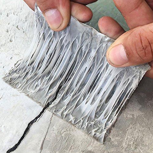 超強力補修テープ 防水 ブチルテープ 屋根防水テープ 水漏れ パテ 固定 屋内 屋外業務 家庭 工業 多用途(5cm幅×5m長さ)