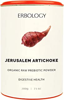 Organic Sunchoke Powder 7.1 oz - Rich in Inulin for Healthy Stomach - Jerusalem Artichoke - Prebiotic - Raw - Gluten-Free