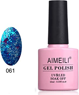 AIMEILI Soak Off UV LED Gel Nail Polish - Clear Glitter Superstar Busta Move (061) 10ml