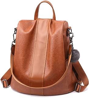 HaloVa Women's Backpack, Travel Daypack, Anti-theft Shoulders Bag, Trendy Crossbody Bag, Brown