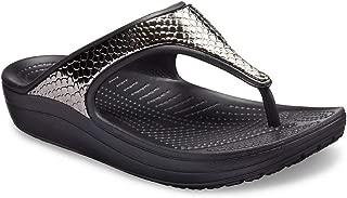 Crocs Women's Sloane Metal Texture Flip