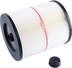 Rexphil Standard Wet/Dry Vacuum Cleaner Air Cartridge Filter, Replacement Pleated Paper Vacuum & Dust Collector Filters fit Shop Vac Craftsman 17816/9-17816 Vacuum Cleaner for 5 Gallon & Larger Vac