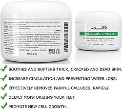 PurOrganica Urea 40 Percent Foot Cream 4 oz