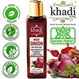 Khadi Global Red Onion Hair Oil for Hair Growth with Argan, Jojoba, Rosemary