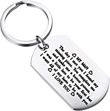 FUSTMW to My Man Keychain Husband Boyfriend Key Chain Gift I was a Little Late to Be Your First But I Want All of My Lasts to Be with You