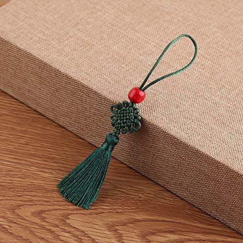 EPMEA0 5 Mini Nudo Chino Rojo del Grano de la Borla de Pendientes Colgantes Conveniente for la Oficina Dormitorio Familia y Bricolaje Artesanía y protección de la Familia Tradicional Recuerdos Chinos