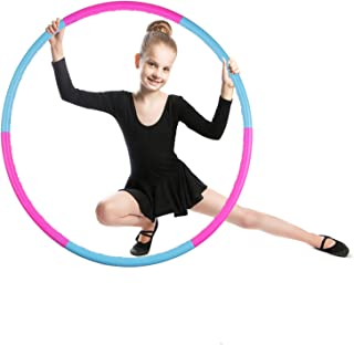Kids Hoola Hoop Detachable & Size Adjustable, Professional Weighted Colorful Hoola Hoop,Premium Quality Professional Hula Rings for Kids,Toy Gifts,Gymnastics,Lose Weight,Adults Fitness,Girls,Boys