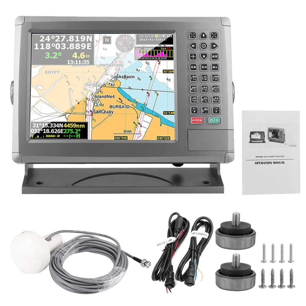 KIMISS 10.4inch Marine GPS Navigator, XF-1069B AIS Collision Navigator Identificación automática para XINUO: Amazon.es: Coche y moto